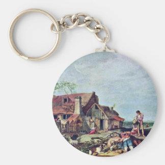 Farm By Bloemaert Abraham Basic Round Button Key Ring