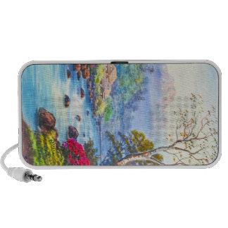 Farm By Flowing Stream K Seki watercolor scenery Notebook Speakers