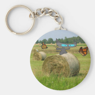 Farm Cat Fun Key Chain