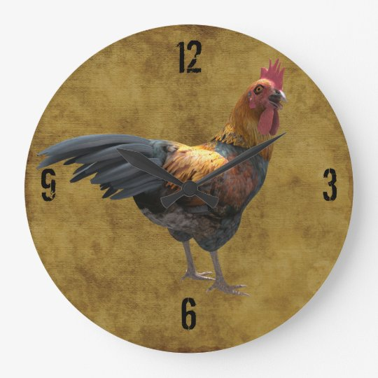Farm Chicken Rooster Rustic Country Barnyard Style Large