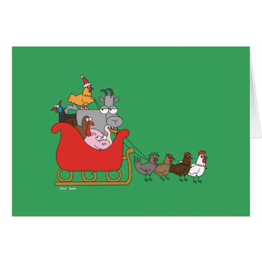 Farm Christmas Greeting Card