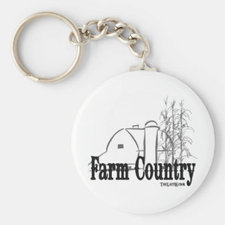 Farm Country Basic Round Button Key Ring