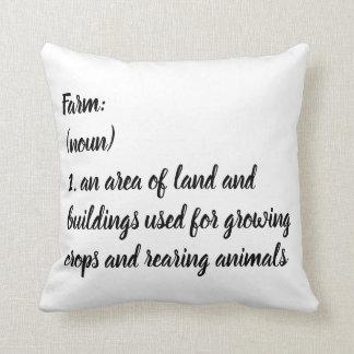 Farm Definition Pillow