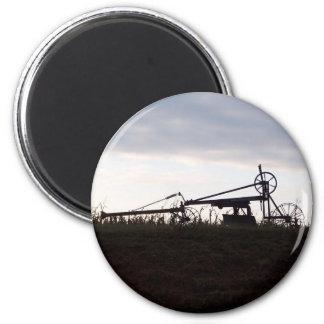 farm equipment 6 cm round magnet