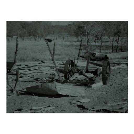 farm equipment postcard