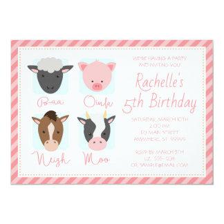Farm Faces Birthday Invitation (w/ Optional Photo)