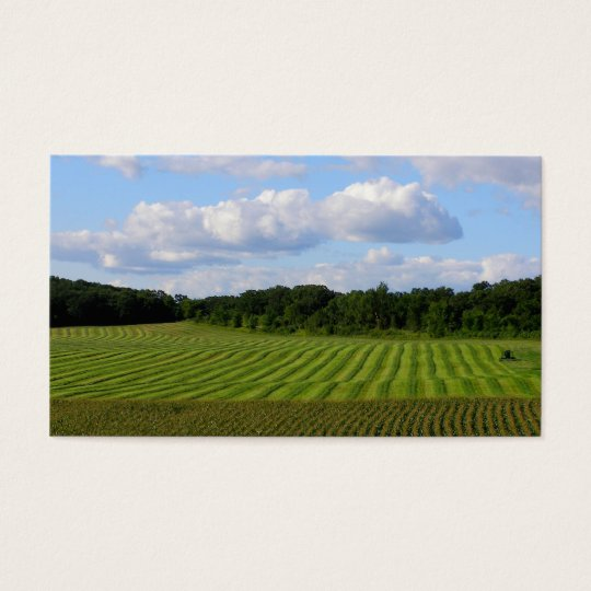 Farm field striped land farmer harvesting photo business