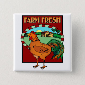 Farm Fresh 15 Cm Square Badge