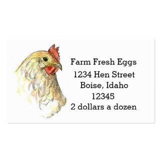Farm Fresh Eggs Business Card Chicken Hen Art