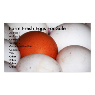 Farm Fresh Eggs For Sale Pack Of Standard Business Cards