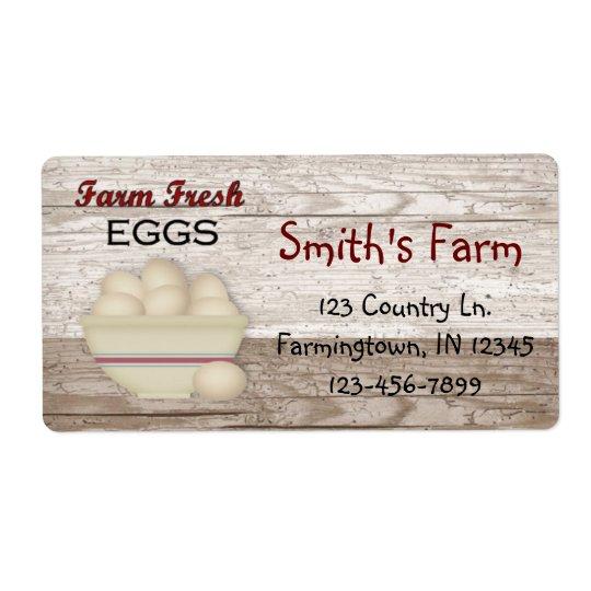 Farm Fresh Eggs Label Shipping Label