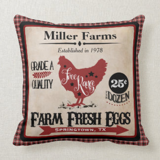Farm Fresh Eggs Personalized Pillow