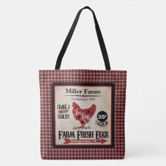 Farm Fresh Eggs Personalized Tote
