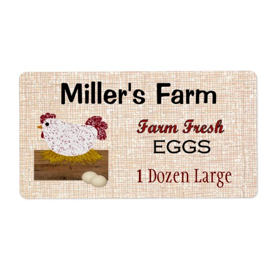 Farm Fresh Eggs Product Label