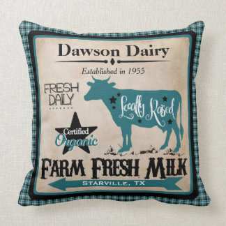 Farm Fresh Milk Personalized Pillow