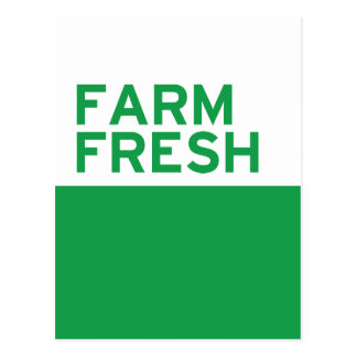 Farm Fresh Postcard