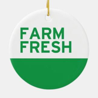 Farm Fresh Round Ceramic Decoration