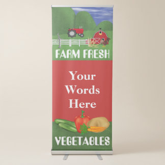 Farm Fresh Vegetables Business Festival banner