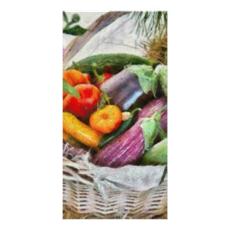 Farm - Fresh Vegetables Photo Card Template