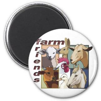 FARM FRIENDS - BARNYARD - COW / HORSE / BIRDS MAGNET