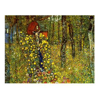 Farm Garden with Crucifix by Gustav Klimt Postcard