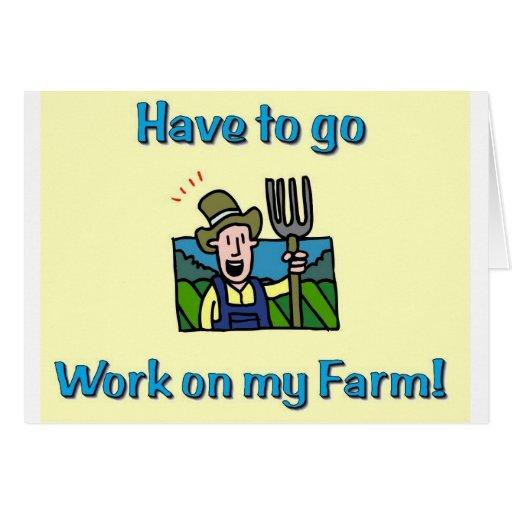 Farm gifts greeting card