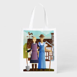 Farm Gothic Reusable Grocery Bag