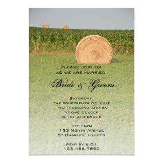 Farm Hay Bales Country Wedding Invitation