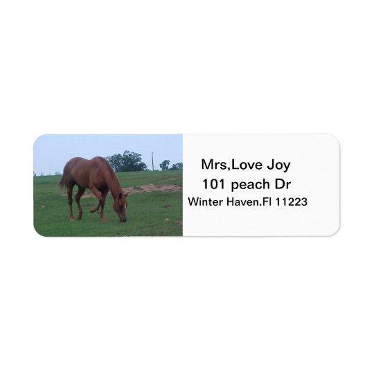 Farm Horse Address Lables