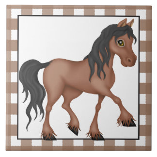 Farm Horse cartoon country tile