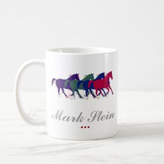 farm horses personalized basic white mug