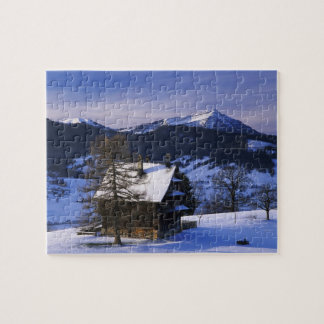 Farm house and Mount Rigi and Pilatus, Jigsaw Puzzle