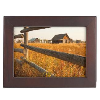 Farm House And Rail Fence In Grand Teton Keepsake Box