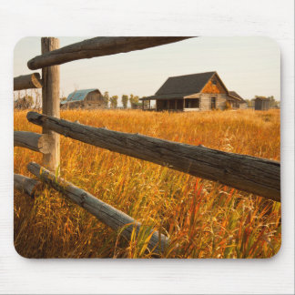 Farm House And Rail Fence In Grand Teton Mouse Pad