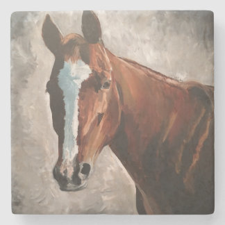 Farm House Ranch Sorrel Horse Marble Tile Coaster Stone Coaster