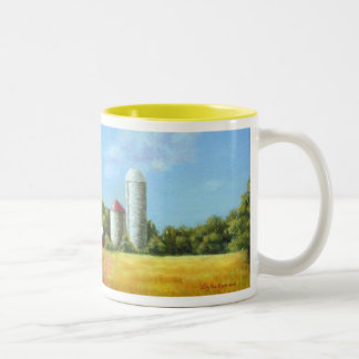 Farm in Herry County, TN Two-Tone Mug