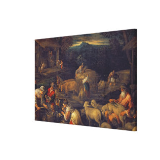 Farm Interior or Shearing Sheep Canvas Print