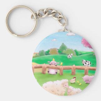 Farm Key Ring Basic Round Button Key Ring