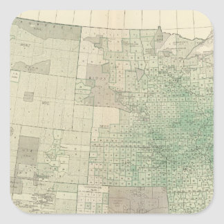 Farm land by counties square sticker