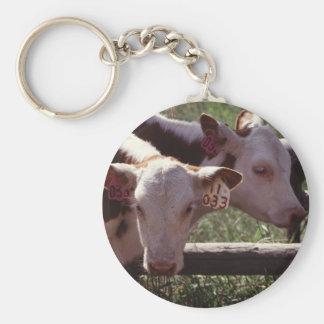 Farm Livestock Basic Round Button Key Ring