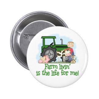 Farm Livin' (Boy) 6 Cm Round Badge