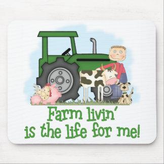 Farm Livin' (Boy) Mousepads
