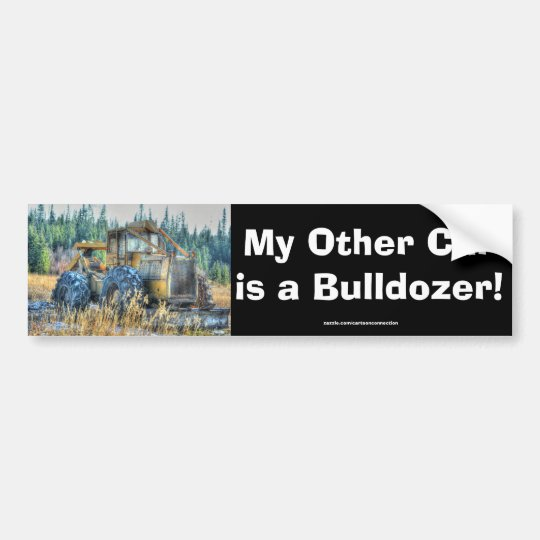 Farm Machinery, Tractor, Back-Hoe, Farm Vehicle Bumper Sticker