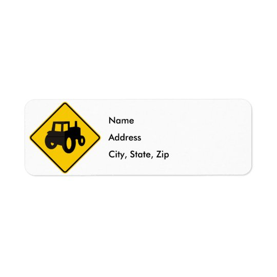 Farm Machinery Traffic Highway Sign