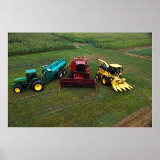 Farm machines poster