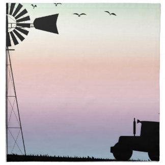 Farm Morning Sky Napkin