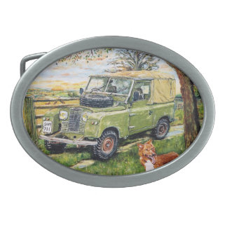 """FARM"" Old Style Land Rover Belt Buckle"
