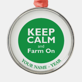 Farm On Christmas Ornament
