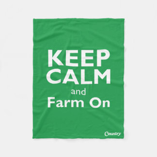 Farm On Fleece Blanket