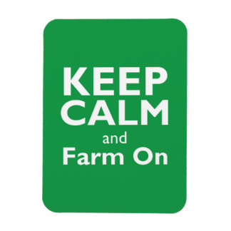 Farm On Rectangular Photo Magnet